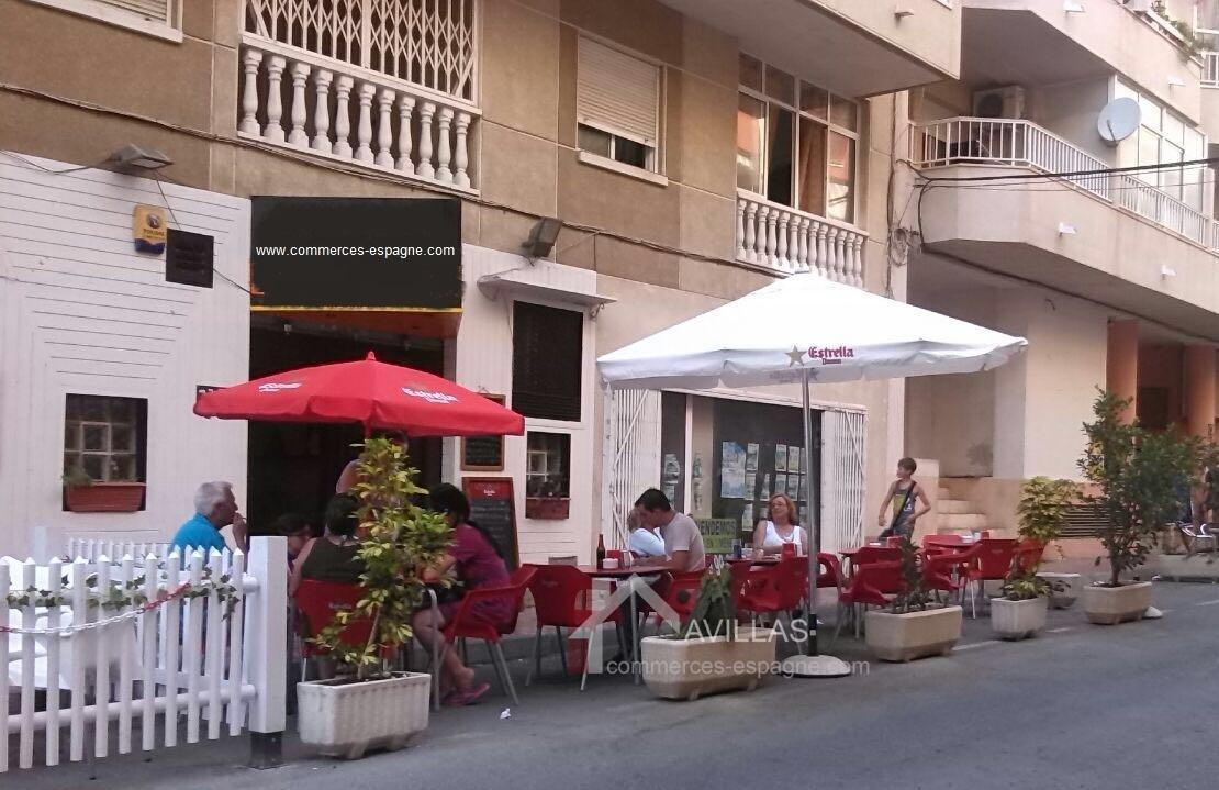 Costa Blanca,Torrevieja, Café proche de la plage