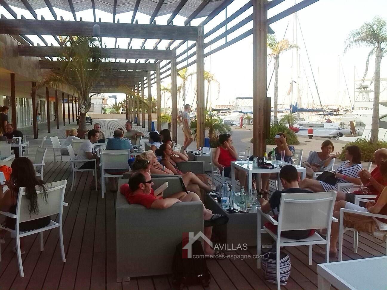 Torrevieja, Glacier, Café dans la marina