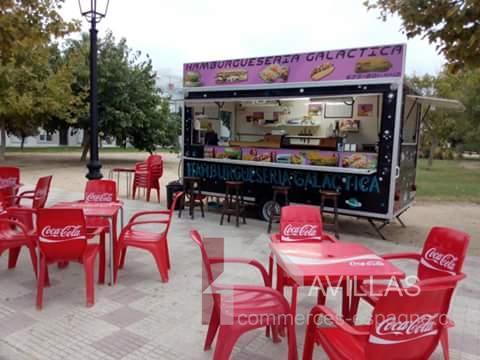 estepona remorque snack food truck fonds de commerce. Black Bedroom Furniture Sets. Home Design Ideas