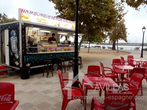 estepona remorque snack food truck fonds de commerce. Black Bedroom Furniture Sets. Home Design Ideas