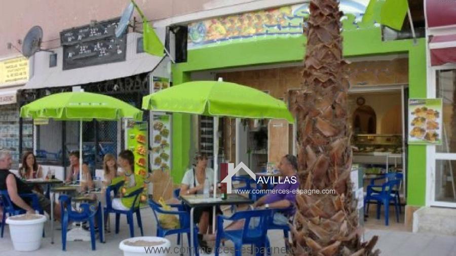 Calpe, Café Snack avec terrasse