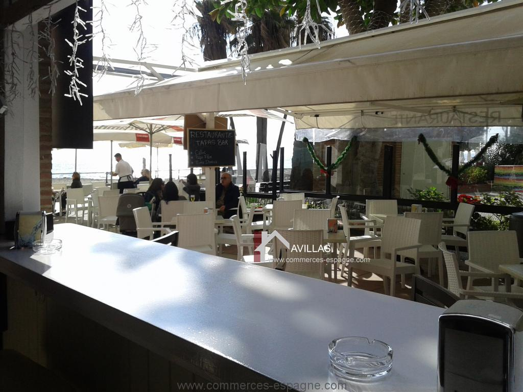 Estepona, Bar Tapas au bord de mer Andalousie