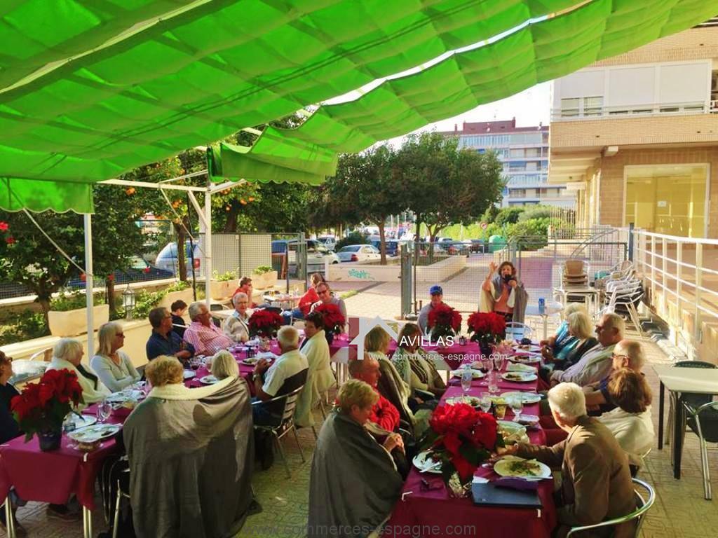 Torrevieja, restaurant avec terrasse