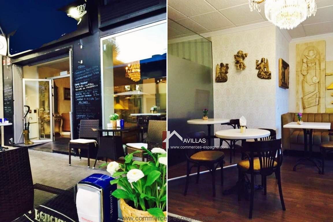 Torrevieja, bar cafeteria avec terrasse