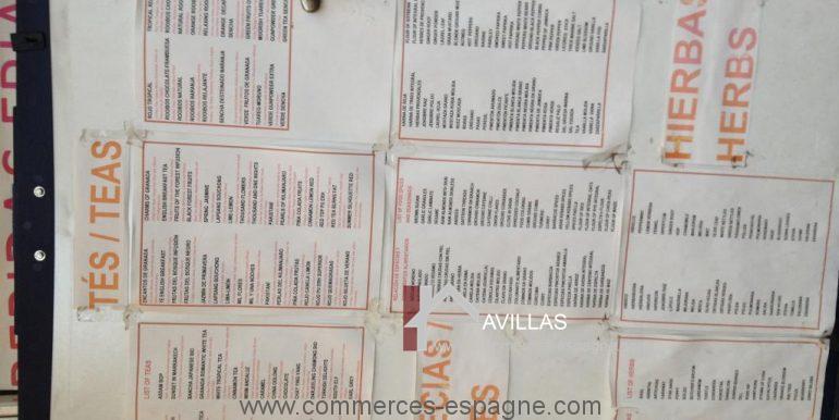 malaga-commerces-espagne-COM42032-carte thé-épices-herbes