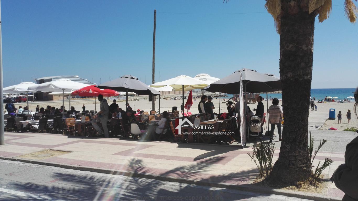 El Campello, Restaurant, terrasse face à la mer