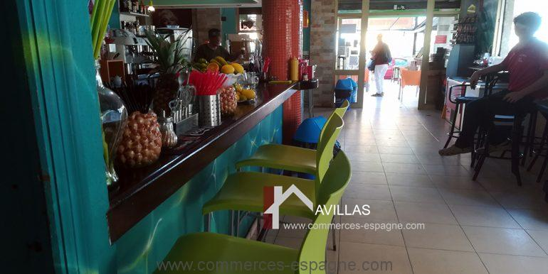 COM30005 salle bar comptoir-restaurant-glacier-avillas commerces espagne