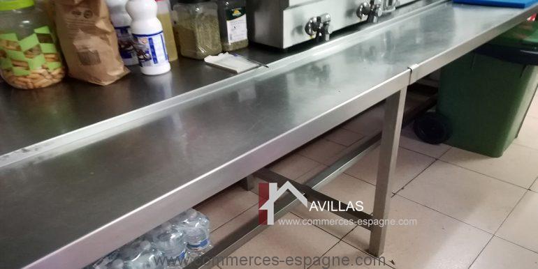 COM30005 table travail cuisine-restaurant-glacier-avillas commerces espagne