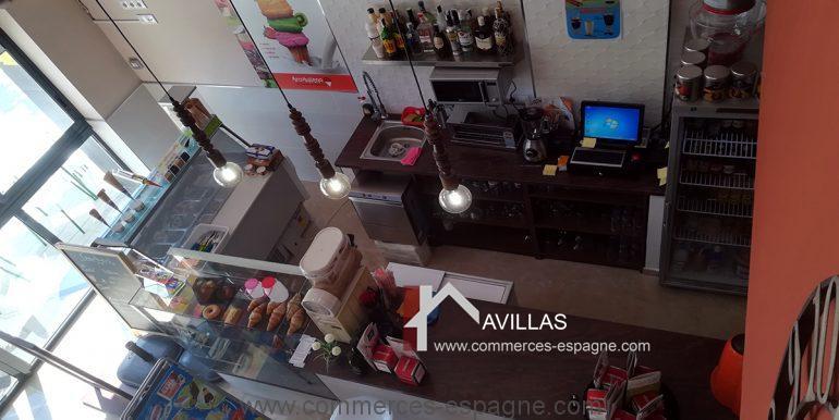 COM30004 salle cafeteria vue depuis salle haut--avillas commerces espagne alicante