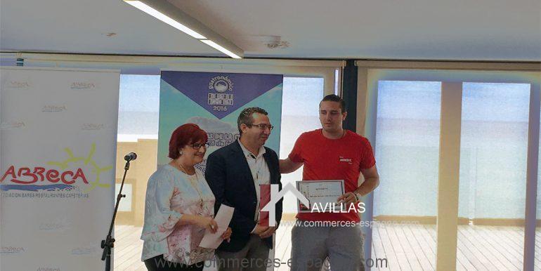 Benidorm-restaurant-avillas-commerces-COM30006 remise prix par le maire de benidorm