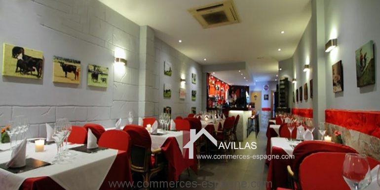 Benidorm-restaurant-avillas-commerces-COM30006 salle restaurant