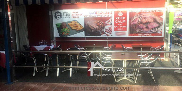 Benidorm-restaurant-avillas-commerces-COM30006 terrasse 3