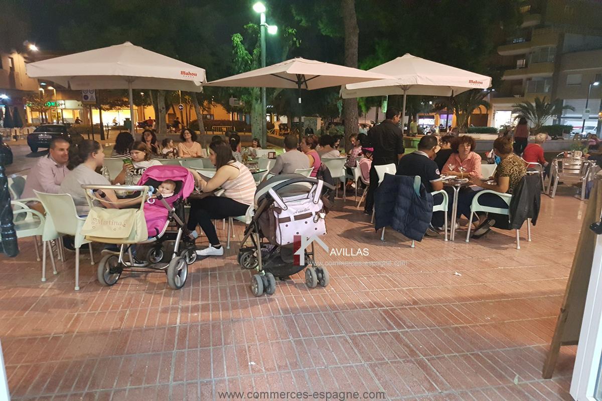 Alicante, bar restaurant avec terrasse