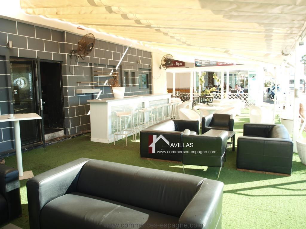 Alicante Discothèque Lounge Dans La Marina Fonds De