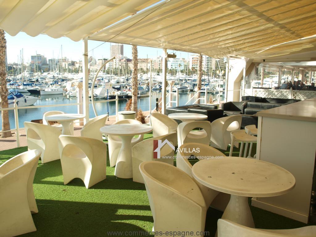 Alicante, Discothèque Lounge dans la marina