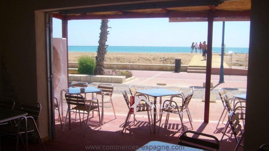 Peniscola, Café Restaurant face à la mer