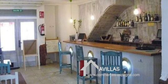 Gandia, Bar Restaurant, pizzeria, appartement de fonction