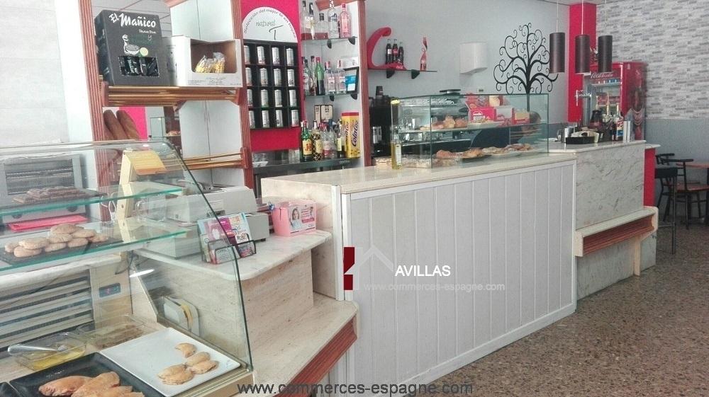 Valencia, Boulangerie, dépôt de pains, salon de thé