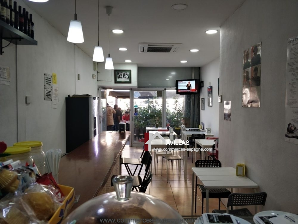 Barcelone, Bar cafeteria, centre ville