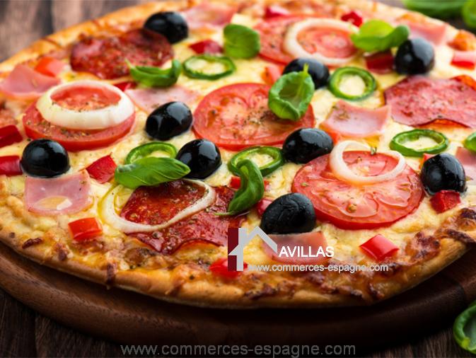 Barcelone, Pizzeria à emporter
