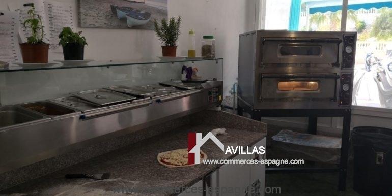 commerces-espagne-com35046-el campello-pizzeria-équipement