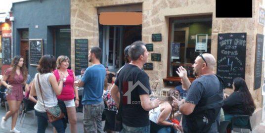 Denia, Bar Tapas, rue piétonne