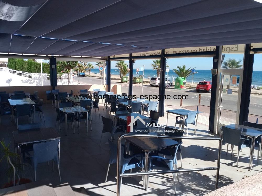 Bar Restaurant, Castellon, face mer