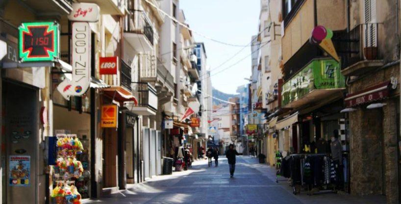 Rosas, Bar Tapas, rue piétonne, Costa Brava