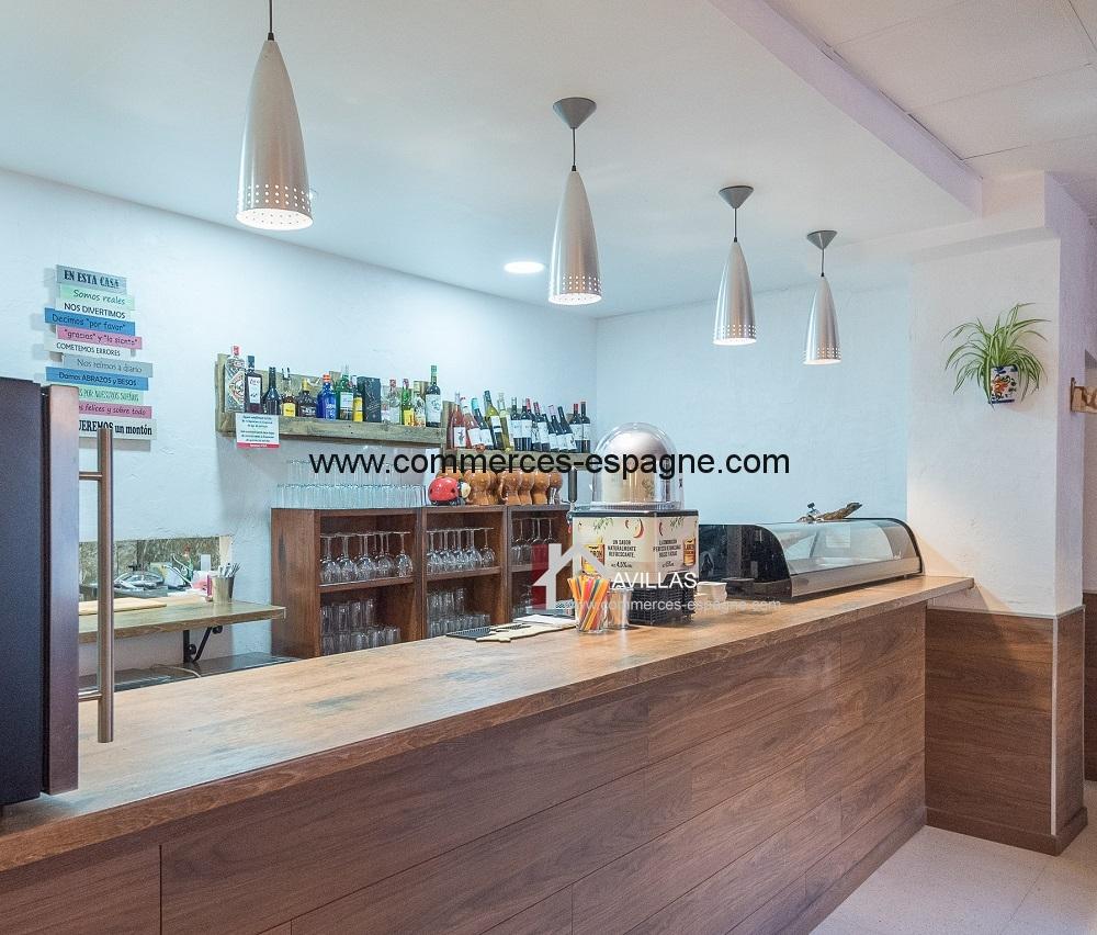 Bar restaurant à Elche, centre ville