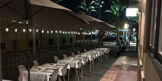 Restaurant à Torrevieja, vue mer
