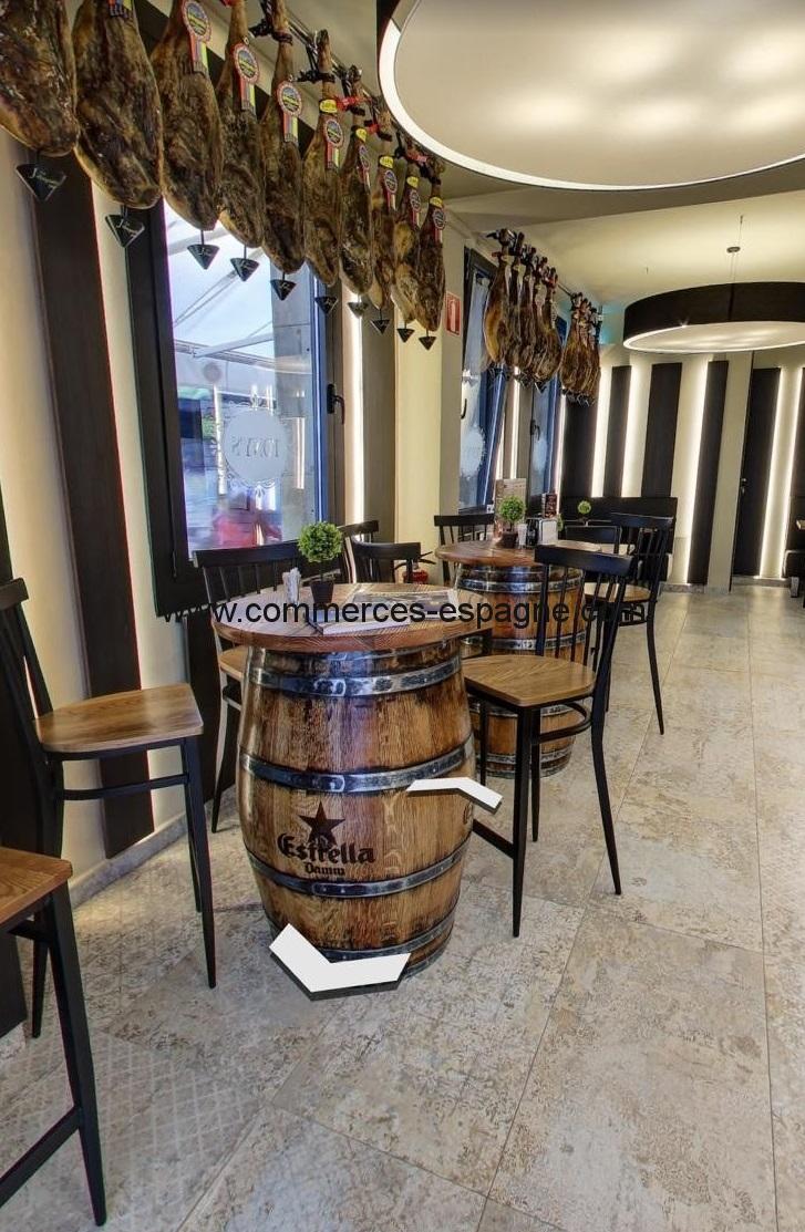 Rosas, Bar Restaurant, rue piétonne