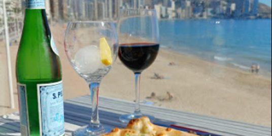 Benidorm, restaurant, face mer