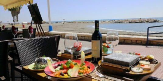 Malaga, bar restaurant, face mer