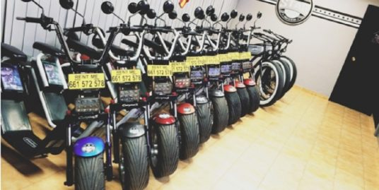 Roquetas del Mar, location motos, vélos